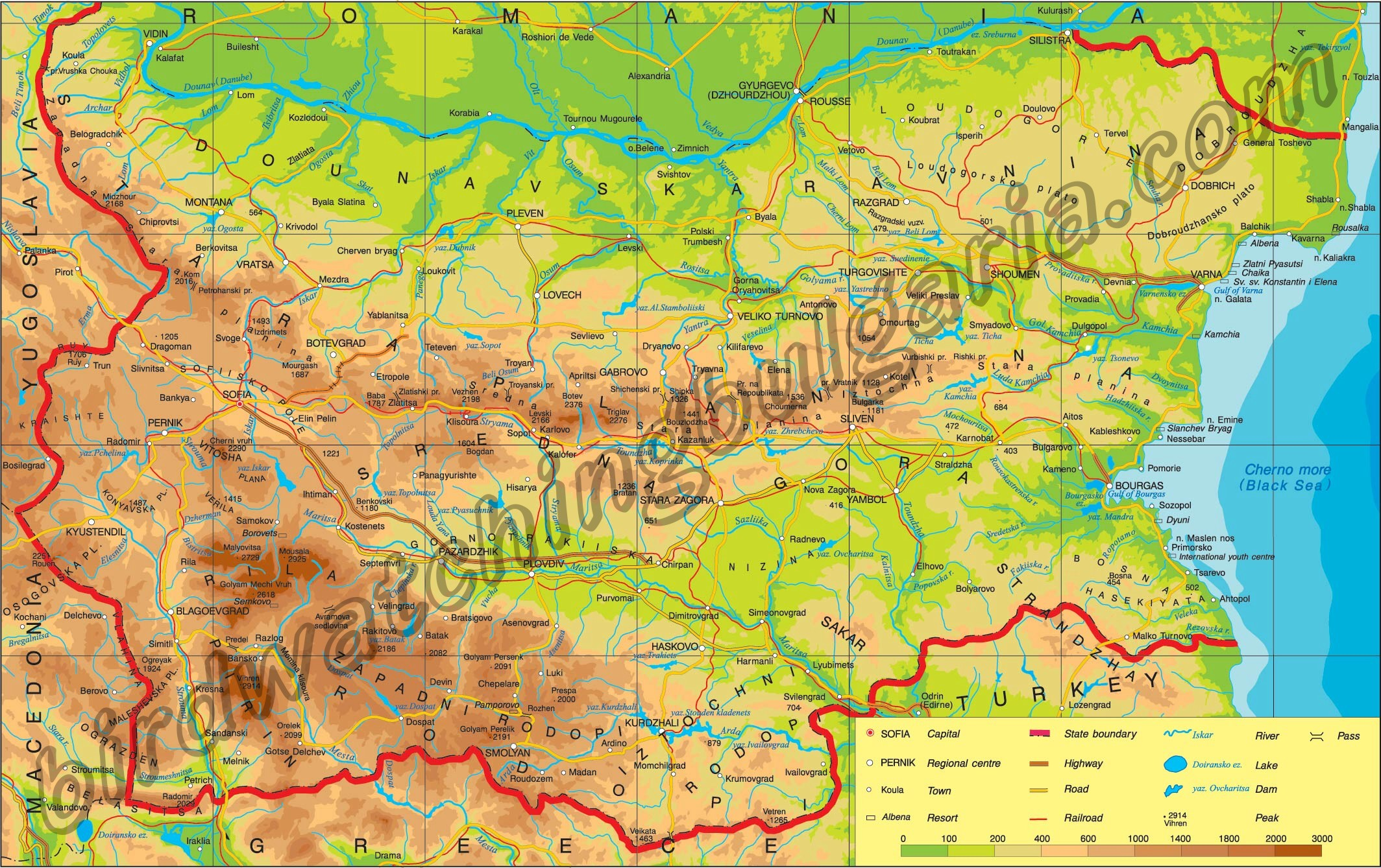 BULGARIA MAP Collection Best MAPS of BULGARIA Maps of SOFIA Varna