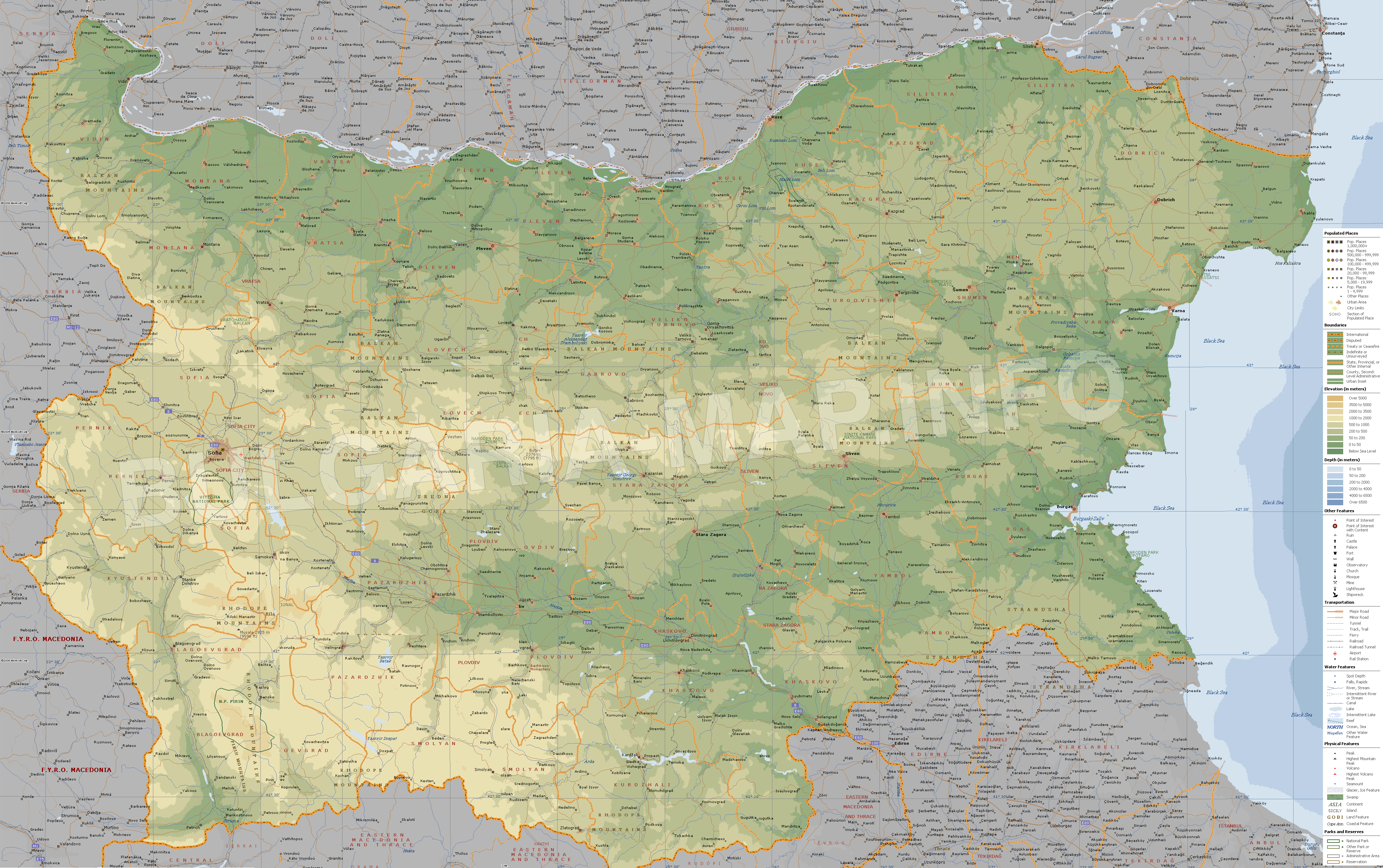 Bulgaria map collection best maps of bulgaria maps of sofia detailed relief map of bulgaria gumiabroncs Image collections